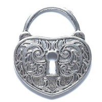 Shipwreck Beads Zinc Alloy Heart Lock with Key Hole, 35 by 40mm, Silver, 10-Pack:Amazon:Arts, Crafts &amp; Sewing