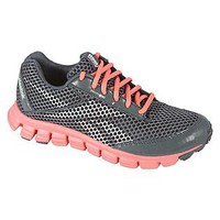 Reebok- -Womens SmoothFlex Running Athletic Shoe - Grey/Pink-Shoes-Womens Shoes-Womens Athletic Shoes