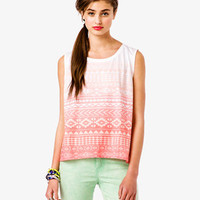 Ombr Tribal Print Muscle Tee | FOREVER 21 - 2024103546