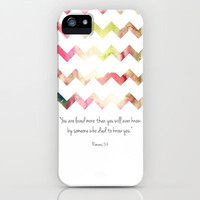 Romans 5:8 iPhone &amp; iPod Case by PrintableWisdom