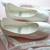 Ecochic Handmade Vegan Bridal Ballet Flats with by TheGeneration