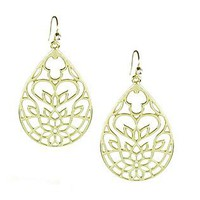 Studio S  Women's Teardrop Filigree Earrings
