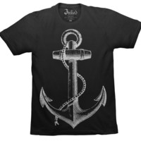 Unisex Anchor Black T-Shirt by Heroine Clothing