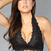 The Galloon Lace Halter Bra