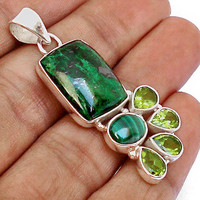 25.89cts EXCELLENT MAW SIT SIT GEMSTONE 925 STERLING SILVER PENDANT E6473