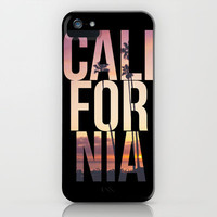 CALI FOR NIA iPhone & iPod Case by Thecrazythewzrd