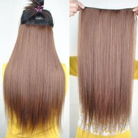 Amazon.com: 8 Color 23&quot; Straight Full Head Clip in Hair Extensions Wwii101 (Blonde 613): Beauty