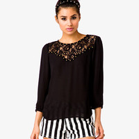 Studded Lace Georgette Blouse
