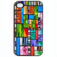 iPhone 4 4s Case Stained Glass Hard iPhone Case by KustomCases