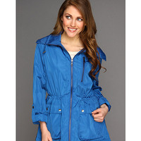 DKNY Hooded Roll Sleeve Anorak