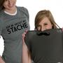 Mustache Flipover Shirt T-Shirt