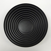 Vintage Black Alessi Maya Bowl