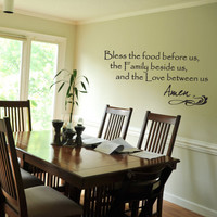 Dining Room on Dining Room  Grace  Wall Sticker  Vinyl Art  Quote  By Yourdecorstore