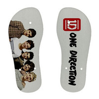 One Direction 1D Photo Beach Summer Flip Flop Shoes Girl Boy Unisex