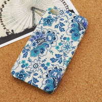 Retro Violets Fabric Phone Case