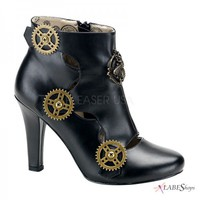 Tesla Steampunk Gear Bootie PL-TESLA-12 by Demonia by Pleaser USA