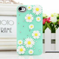 Daisy Flower Rhinestone Case for iPhone