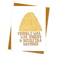 $5.00 Needle in a Haystack Card
