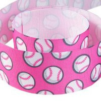 "Amazon.com: Hip Girl Boutique 5yd 1.5"" Baseball Grosgrain Ribbon--Pink: Arts, Crafts & Sewing"