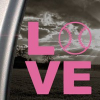 Amazon.com: LOVE BASEBALL SOFTBALL Pink Decal Truck Window Pink Sticker: Arts, Crafts & Sewing