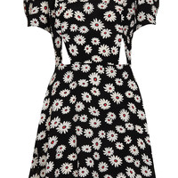 Daisy Print Cutout Teadress - Dresses - Clothing - Topshop USA