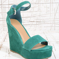 Deena &amp; Ozzy Lana Wedges in Green at Urban Outfitters