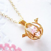 Handmade Gifts | Independent Design | Vintage Goods Angelic Dragon's Egg Necklace - Gold - Jewelry - Girls