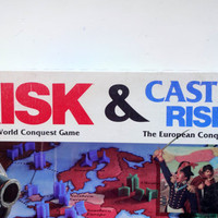 Vintage Parker Brothers Risk and Castle Risk Board Game 1990