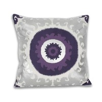 Square Suzanne Suzani Metallic Foil Pillow
