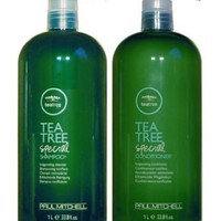 Paul Mitchell Tea Tree Special Shampoo & Special Conditioner Duo 33.8 oz (1 Liter): Beauty