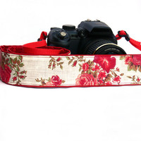 Floral Camera Strap.dSLR Camera Strap. Women accessories