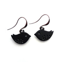 Beautiful Matte Black Earrings