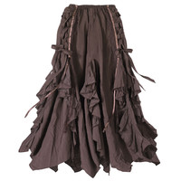 Ribboned Bark Skirt                                - New Age, Spiritual Gifts, Yoga, Wicca, Gothic, Reiki, Celtic, Crystal, Tarot at Pyramid Collection