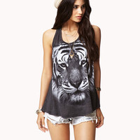 Tiger Graphic Racerback Tank