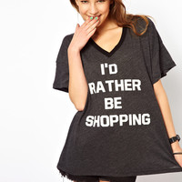 Wildfox I'd Rather Be Shopping T-Shirt Exclusive To Asos