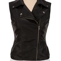 Asymmetrical Moto Vest