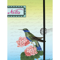 Hummingbird journal made with recycled wood free paper - 