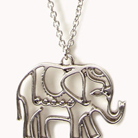 Cutout Elephant Necklace | FOREVER 21 - 1057669503