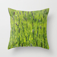 Grasses © Throw Pillow by JUSTART