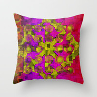 Pattern squares2 Throw Pillow by LoRo  Art & Pictures