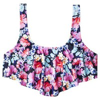 Xhilaration Junior&#x27;s Bikini Swim Top -Floral Print