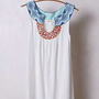 Anthropologie - Embroidered A-Line Tank