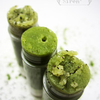Organic Lip Scrub NEW Matcha Tea Sugar Scrub by TheSimpleSiren
