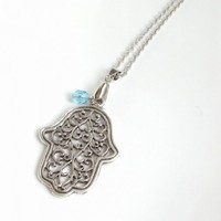 Hand of Hamsa necklace | moonfairy - Jewelry on ArtFire