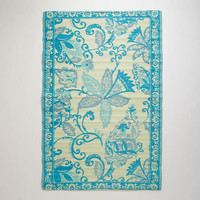 4'x6' Blue and Ivory Antigua Rio Floor Mat