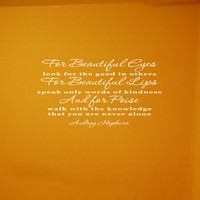 Audrey Hepburn quote removable wall vinyl  you by daydreamerdesign