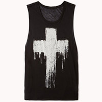 Metallic-Trimmed Cross Muscle Tee | FOREVER 21 - 2040788097