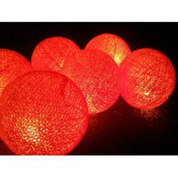 Amazon.com: I Love Handicraft Lights Orange Color Set Cotton Ball String Lights Patio Wedding and Party Decoration (20 Balls/set): Everything Else