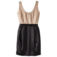 Kate Young For Target® Beaded Colorblock Dress -Tan/Black