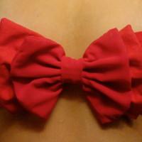 double red bow bandeau by aznemilyyy on Etsy